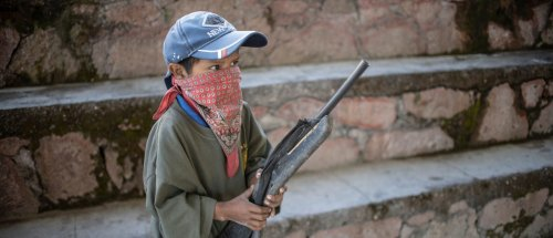 Village Gives Children Guns And Sends Them Marching, Hoping Government Will Recognize Organized Violence In Mexico