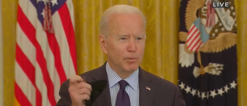 Reporter Questions Biden On Why He's Wearing A Mask Around Other Vaccinated People