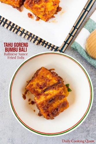 Tahu Goreng Bumbu Bali - Balinese Sauce Fried Tofu
