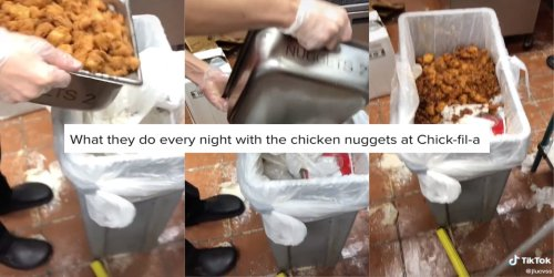 Chick-fil-A worker exposes all the nuggets that get thrown away in viral TikTok, sparking debate