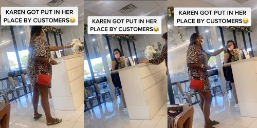 'You came in here disrespecting my friend': Karen shut down by fellow customer after 'talking crazy' to nail tech