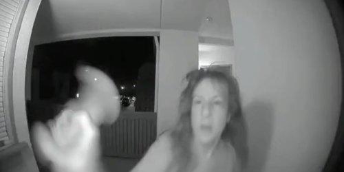 'She mad': Karen swings on, tries taking down TikToker's Ring security camera in viral video