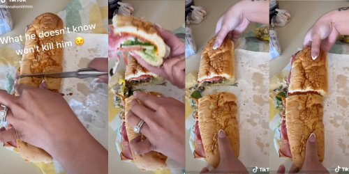 'If I knew someone did this to my food I would get so mad': TikToker shows hack to stealing portion of Subway sandwich