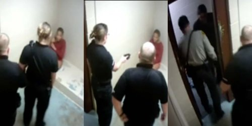 Video shows officers pointing taser at, forcibly stripping Black mother who is partially blind