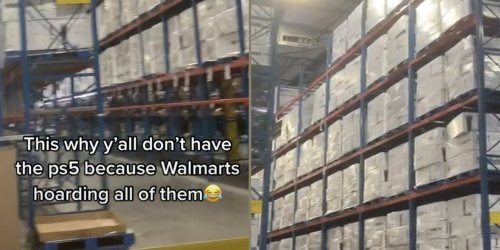 Viral TikTok allegedly shows Walmart warehouse stockpiled with PlayStation 5s amid shortage