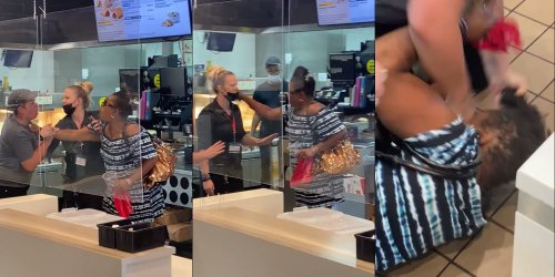 Video shows woman attacking McDonald's workers after being told tri-flavored slushie was not an option