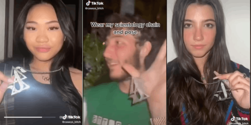 'So hilarious how clueless they all are': Frankie Jonas posts TikTok of influencers flexing with a Scientology chain