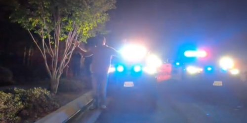 'What the f*ck did I do?': TikToker and boyfriend surrounded by 8 cop cars, helicopter after police mistook their GoPro for gun