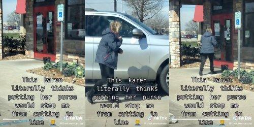 'Karen' uses her purse to gatekeep Chili's in viral TikTok