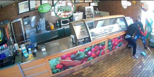 'They do not want corporate to know': Subway worker suspended after footage of her fighting off armed robber goes viral