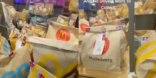 'I purposefully never accept McDonald's': Drivers slam fast-food chain after video shows restaurant flooded with delivery orders