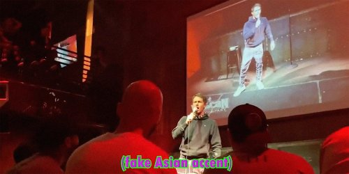 Tony Hinchcliffe goes on racist rant after being introduced by Asian-American comedian