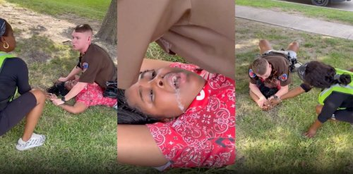 Viral video shows officer on top of Black teen as she cries out 'I can't breathe'