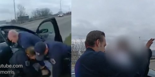 Video shows cop repeatedly punching Black man after stopping him for littering