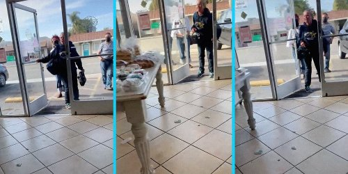'What're you gonna do, b****r?': Karen throws racist tantrum after getting kicked out of Mexican bakery over mask