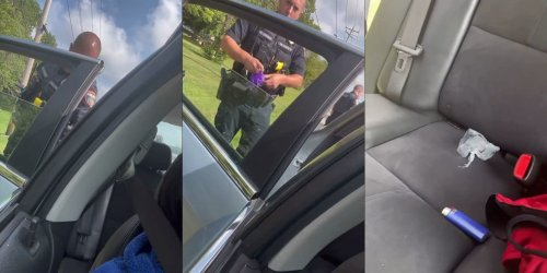 Video: Cop accused of planting evidence in a man's car before inspecting it