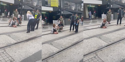 'I am not getting off the f*cking road': Woman blocks tram to protest vaccine mandates in viral TikTok