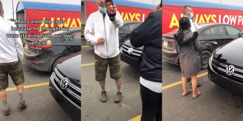 'Who the hell does stuff like this?': Indigenous TikToker shows male 'Karen' calling the police on her in parking lot