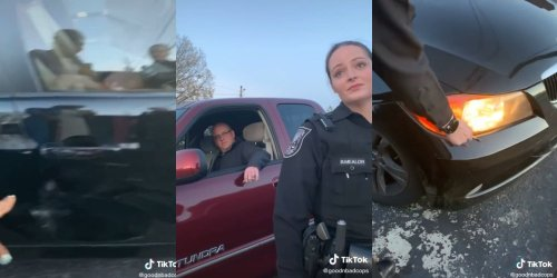 'You should be fair': TikTok shows white cop gaslighting Black woman whose car was allegedly hit by off-duty officer