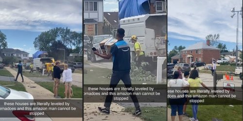 'As if he had a choice': Viral TikTok shows Amazon driver delivering packages in neighborhood destroyed by tornado