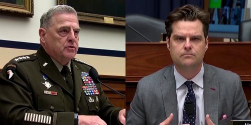 Video shows Matt Gaetz getting 'schooled' on critical race theory by top military leader
