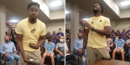 Black man goes viral for rant against critical race theory at school board meeting—but he's not your average 'concerned parent'