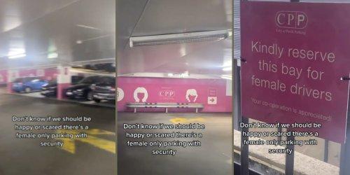 'I'd feel safer in the normal one': Viral TikTok of women-only parking garage sparks debate