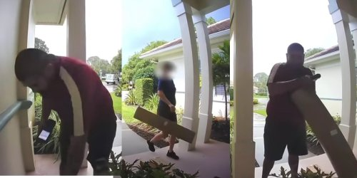 Video Shows FedEx Courier Dropping Package, USPS Saving the Day