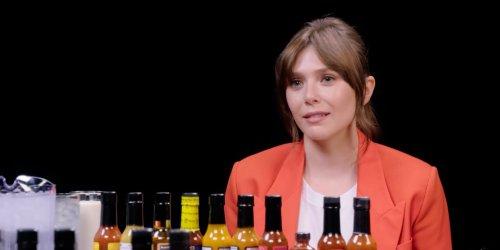 Elizabeth Olsen becomes a meme after appearing on 'Hot Ones'