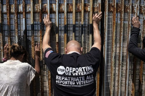 Deported vets briefly cross border for vaccine as part of Biden admin effort to return them to U.S.