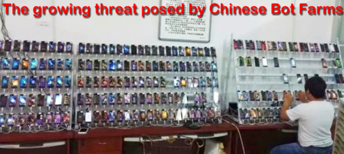 The growing threat posed by Chinese Bot Farms