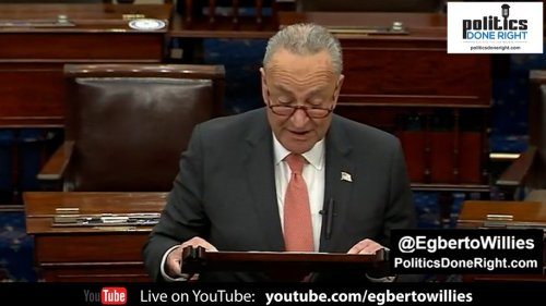 Sen. Chuck Schumer destroys Republicans on the floor for their upcoming NO on debating voting rights