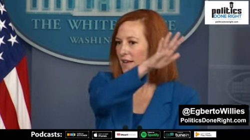 Watch Jen Psaki used reporter's question to throw shade on a Republican Party in complete disarray.