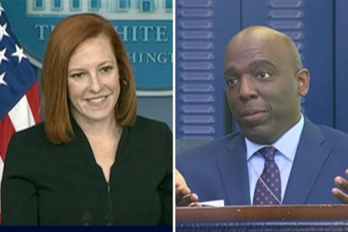 Reporter gets stumped when White House press sec. Psaki turns his hack question back on him