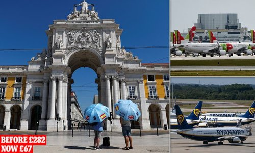 Cost of flying to 'green list' Portugal plummets by 76%
