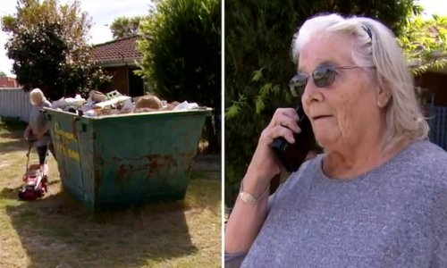 Perth grandmother pleads for help removing skip from her front yard