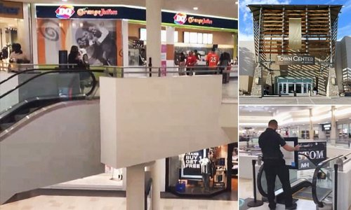 Boy dies after falling out of father's arms while on mall escalator