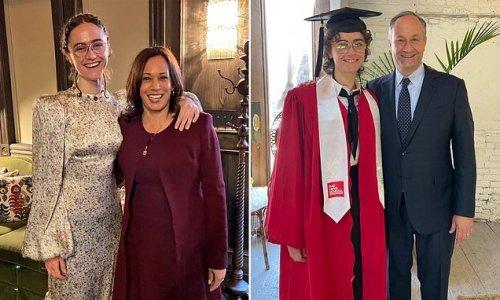 Kamala Harris congratulates Ella Emhoff upon college graduation