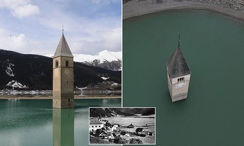 Lost village emerges from Italian lake after 71 years