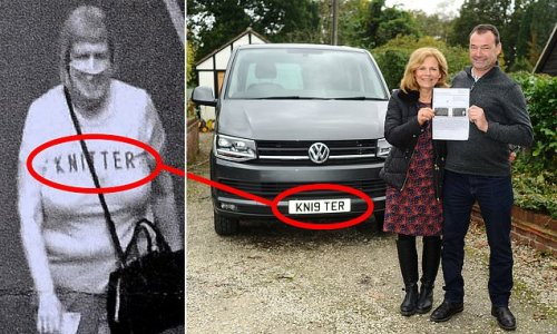 Couple with KN19 TER number plate hit with £90 fine thanks to t-shirt