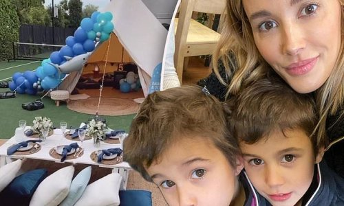 Bec Judd treats twin boys Tom and Darcy to a luxury glamping getaway