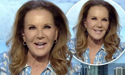 Rhonda Burchmore, 61, shows off her extremely taught visage