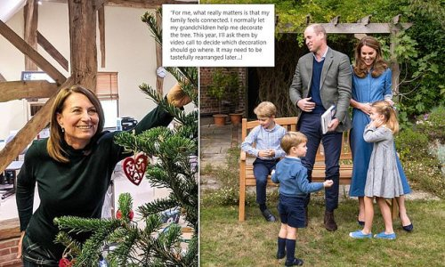 Carole Middleton will decorate Christmas tree over Zoom with grandkids