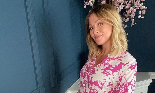 Pregnant Kimberley Walsh wears pink dress as she reaches 33 week mark