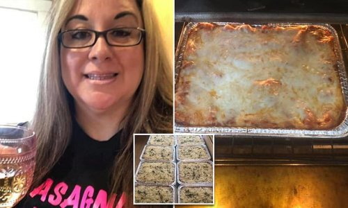 Woman who lost job cooks over 1,275 pans of lasagna for people in need