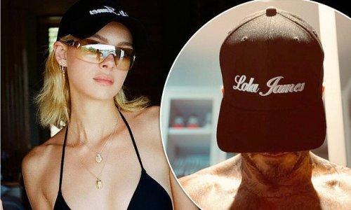 David and Victoria Beckham support Nicola Peltz in Lola James caps