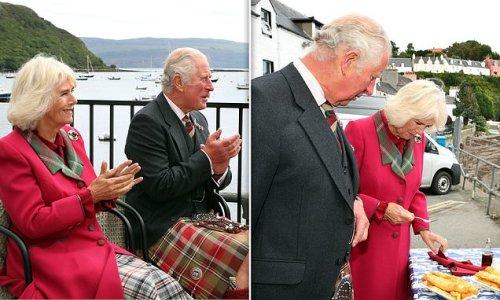 Prince Charles and Camilla don tartan during visit to Isle of Skye