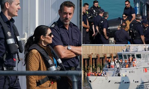 Priti Patel visits Dover as around 100 migrants intercepted in Channel