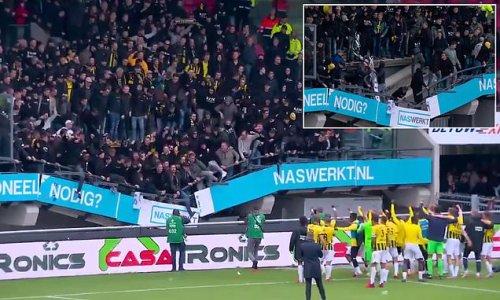 Vitesse fans cause stadium stand to collapse