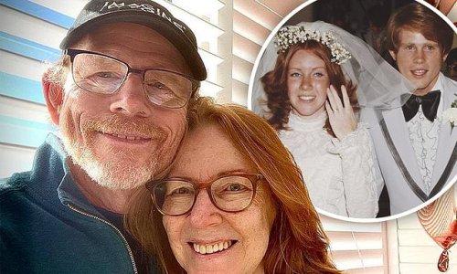 Ron Howard, 67, celebrates his 46th wedding anniversary to wife Cheryl